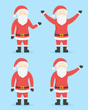 Santa Claus Cartoon Style Characters. Vector Collection Royalty Free Stock Photography