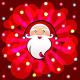 Santa Claus cartoon vector background Royalty Free Stock Image