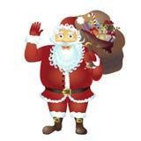 Santa Claus cartoon waving her hand cartoon character isolated on white vector Illustration. Eps 10 Stock Image