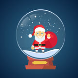 Santa Claus Cartoon Wish Glass Ball Christmas Stock Images