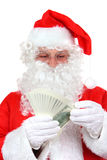 Santa Claus & cash Royalty Free Stock Photography