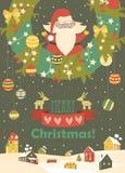 Santa Claus celebrating Christmas. Cute Santa Claus celebrating Christmas. Vector illustration Royalty Free Stock Photos