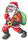 Santa claus cell royalty free stock images