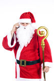Santa Claus with a cellphone Royalty Free Stock Images