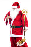 Santa Claus with a cellphone Stock Photos