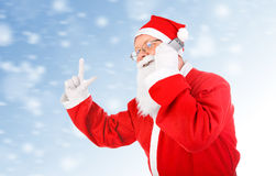 Santa Claus with Cellphone Royalty Free Stock Image