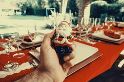 Santa Claus Ceramic Decor Royalty Free Stock Photos