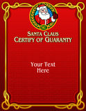 Santa Claus Certify of Guaranty Stock Photography