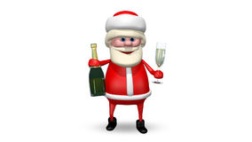Santa Claus with Champagne stock video footage