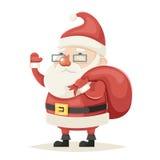Santa Claus Character Christmas New Year  Icon Cartoon Design Vector Illustration Stock Photography