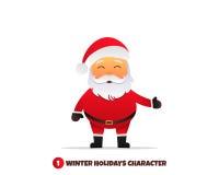 Santa Claus character. Merry Christmas and Happy New Year. Santa Claus cartoon character. Holiday vector illustration Royalty Free Stock Photos
