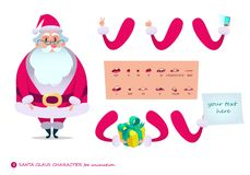 Santa Claus character for scenes.P Royalty Free Stock Photo