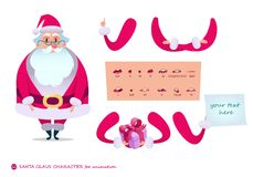 Santa Claus character for scenes.P Stock Photos