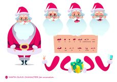 Santa Claus character for scenes.P Stock Images