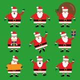 Santa Claus Character Set Stock Images