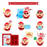 Santa Claus character sets Royalty Free Stock Photo