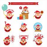 Santa Claus character sets Stock Images