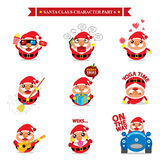 Santa Claus character sets Royalty Free Stock Image