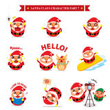 Santa Claus character sets Royalty Free Stock Photos