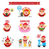 Santa Claus character sets Stock Photos