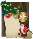 Santa Claus character, vintage wood  board Stock Photography