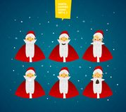 Santa Claus characters emotions set for your design Stock Photography