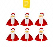Santa Claus characters emotions set for your design Stock Images