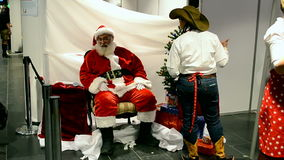 Santa claus, Charity bazaar 2014, Kiev, Ukraine, stock video