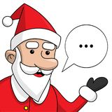 Santa Claus with chat cloud for your text. Cool element of Christmas advertising for posters, leaflets, flyers, banners, billboard. S, greeting cards. Isolated Royalty Free Stock Photo