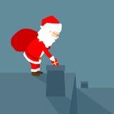 Santa Claus che distribuisce i regali Fotografia Stock Libera da Diritti
