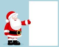 Santa Claus che presenta spazio in bianco vuoto Fotografia Stock Libera da Diritti