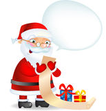 Santa Claus checking his list Stock Images