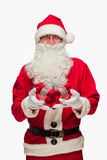 Santa Claus: Cheerful With Small Stack Of Gifts Stock Photos