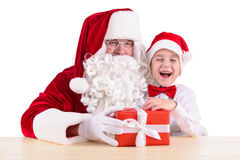 Santa Claus and child Stock Photo