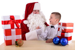 Santa Claus and child Royalty Free Stock Photography