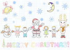 Santa Claus and children  Royalty Free Stock Photo