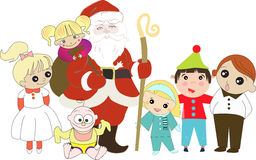 Santa Claus with childrens Royalty Free Stock Photos