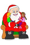 Santa claus and childrens- isolated image Stock Image