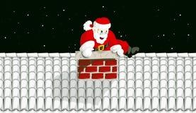 Santa Claus in chimney 2 royalty free stock image