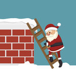 santa claus in chimney isolated icon design Royalty Free Stock Image