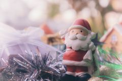 Santa claus and chirstmas background.  Stock Image