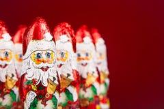 Santa Claus chocolate figure Stock Photos