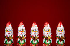 Santa Claus chocolate figure Stock Photos