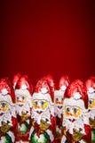 Santa Claus chocolate figure Stock Image