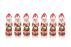Santa Claus chocolate figure  xmas decoration Royalty Free Stock Images
