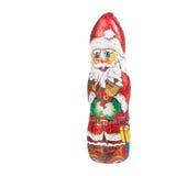 Santa Claus chocolate figure  xmas decoration Royalty Free Stock Image