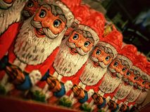 Santa Claus Chocolate Figurine Royalty Free Stock Images