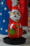 Santa Claus. Chocolate Santa Claus o the table royalty free stock photo