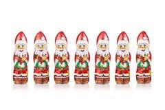 Santa Claus chokladdiagram xmas-garnering Royaltyfria Bilder