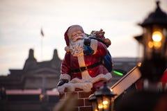 Santa Claus christmas angel Stock Image